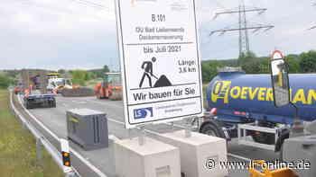 B-101-Ortsumfahrung Bad Liebenwerda: Ab Montag beginnt der Asphalteinbau – Sperrung noch bis Juli - Lausitzer Rundschau