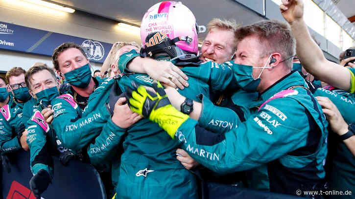 """Formel 1 in Baku: Sebastian Vettel auf Platz 2! """"Bin auf Wolke sieben"""" - t-online"""