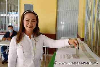 Vota Gloria Núñez en las varas; espera una jornada tranquila segura y democrática - El Sol de Nayarit