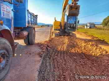 Sostenido avance de obras en el acceso a Yataity y Mbocayaty   - ip.gov.py