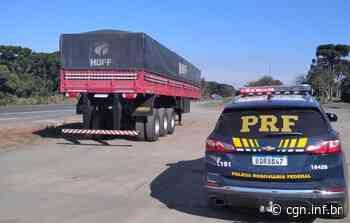 Em Imbituva, PRF recupera carreta com queixa de roubo - CGN