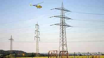 Hochspannungsleitung: Hubschrauber kontrolliert in Herdecke - Westfalenpost