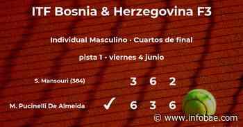 Matheus Pucinelli De Almeida logra la plaza de las semifinales a expensas del tenista Skander Mansouri - infobae
