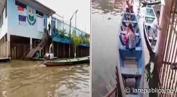 Iquitos: ciudadanos se trasladan en canoas hasta local de votación - LaRepública.pe
