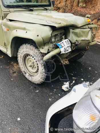 Choque entre todoterrenos en la carretera de Valsequillo a San Mateo - TeldeActualidad.com