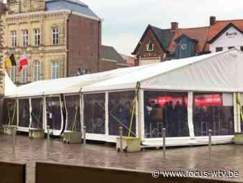 Jongerenterras in Tielt enkel nog in tent na grote drukte van gisteren - Focus en WTV