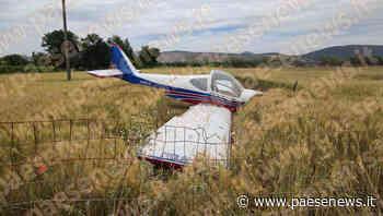 Vitulazio / Quarto / Santa Maria Capua Vetere – Aereo in avaria, atterraggio d'emergenza in un campo di grano: ferito il pilota - Paesenews