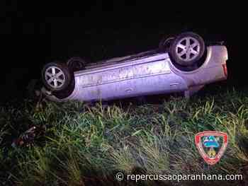 Capotamento é registrado no km-4 da ERS-115, em Igrejinha - Repercussão Paranhana