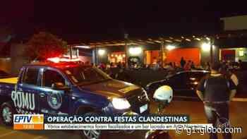 Operação contra festas clandestinas e aglomerações fecha bar em Artur Nogueira - G1