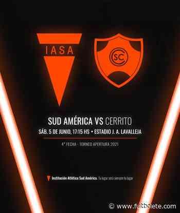 Ver en vivo Sud América vs Cerrito por la fecha 4 de la Primera División de Uruguay - Futbolete