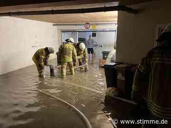 Starker Regen sorgt für Hochwasser in Biberach und Untergruppenbach - Heilbronner Stimme