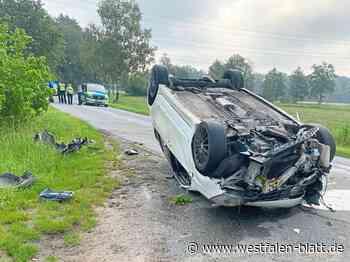 Pkw überschlägt sich – Polizei sucht nach dem Fahrer - Westfalen-Blatt