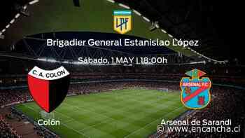 Colón vs Arsenal de Sarandi: Programación y previa - EnCancha.cl
