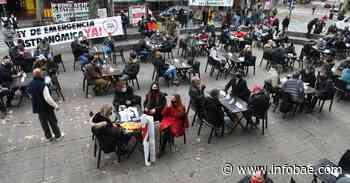 Gastronómicos se convocaron en Palermo para protestar contra las restricciones por coronavirus - infobae