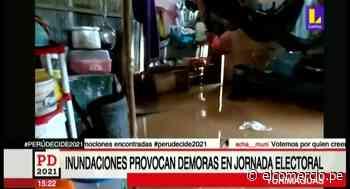 Yurimaguas: vecinos no pueden acudir a votar tras perder sus documentos de identidad durante lluvia torrencial - El Comercio Perú