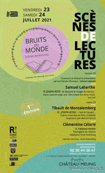 Festival de Lecture : Bruits du monde Château de Meung sur Loire vendredi 23 juillet 2021 - Unidivers