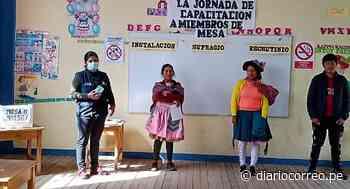 Hoy 2 mil 52 miembros de mesa cumplen su rol en la provincia de Huancavelica - Diario Correo