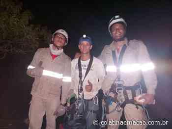 Bombeiros resgatam homem que ficou preso em pedra em Itaguaçu - Colatina em Ação