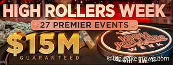 Die $15M GTD High Rollers Week hat bei GGPoker begonnen