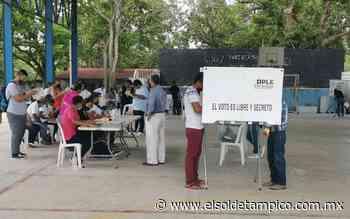 Con apego a protocolos anticovid transcurre la elección en Pueblo Viejo - El Sol de Tampico