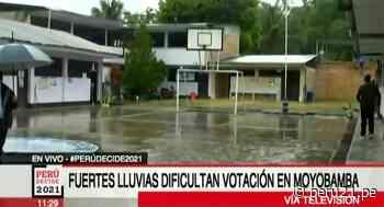 En Moyobamba lluvia torrencial dificulta votación - Diario Perú21