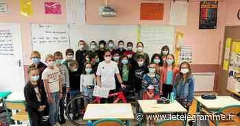 À Plabennec une championne en visite à l'école du Lac - Le Télégramme