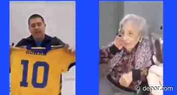Sueño cumplido: Riquelme y el gran gesto con una hincha de 104 años [VIDEO] - Diario Depor