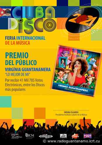 Conquista cantante Virginia Guantanamera Premio del Público del Cubadisco 20-21 - icrt.cu