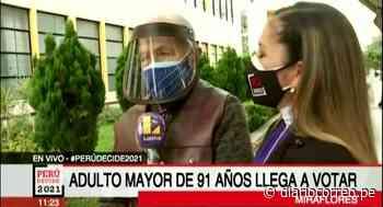 Miraflores: Adulto mayor de 91 años acude a votar - Diario Correo