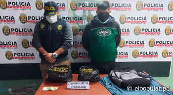"""San Juan de Miraflores: """"Chacaloncito"""" roció perfume a mochila con marihuana para que pase desapercibido [VIDEO] - ElPopular.pe"""