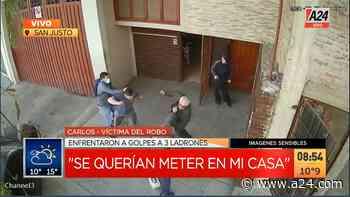 San Justo: una familia se defendió de una entradera a las trompadas - a24.com
