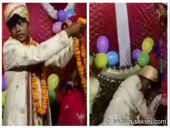 Funny Marriage Scene: Drunk Groom Garlands Bride's Mother - Sakshi English