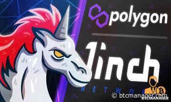 DEX Aggregator 1inch Network (1INCH) Expands to Polygon (MATIC) - BTCMANAGER