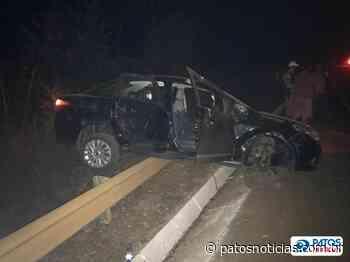 Queimada próximo à rodovia provoca acidente na BR-352 em Lagoa Formosa - Patos Notícias