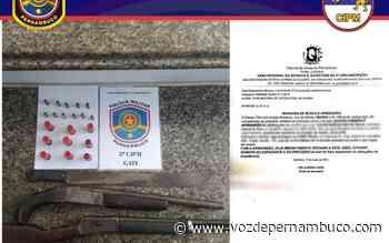 Duas armas e munições foram apreendidas com menor em Goiana - Voz de Pernambuco