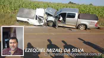 Homem morre e outro fica ferido em grave acidente entre Taquarituba e Tejupá - Jornal Sudoeste Paulista