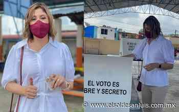 En Tamazunchale, emite su voto la doctora Mónica Rangel - El Sol de San Luis