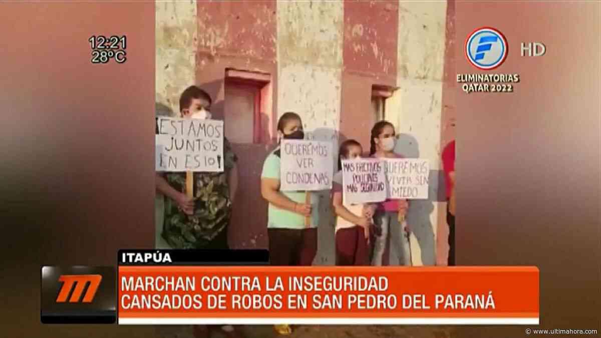 Marchan contra la inseguridad en San Pedro del Paraná - ÚltimaHora.com