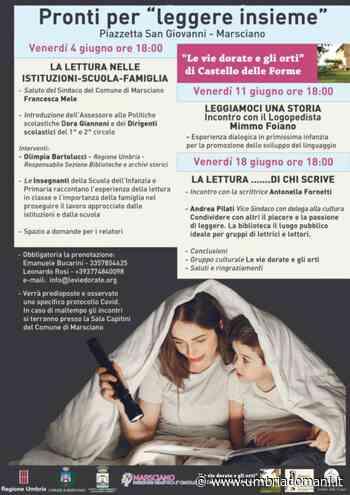 Marsciano, Tre appuntamenti per riflettere sulla lettura - Umbriadomani