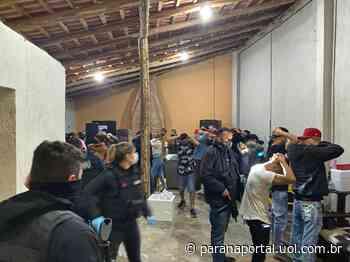 Festa clandestina com 64 pessoas em São José dos Pinhais termina com sete presos - Paraná Portal
