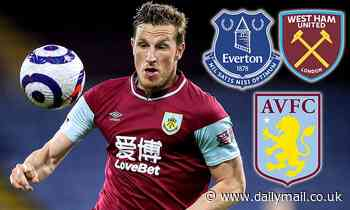 Burnley forward Chris Wood 'wanted by Everton, Aston Villa and West Ham'