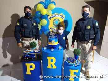 Menino que sonha em ser PRF comemora aniversário com policiais em Petrolina - Diário de Pernambuco