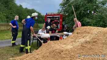 Feuerwehr und THW kämpfen in Bad Wildungen mit Wassermassen - HNA.de
