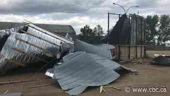 Roof of old Niverville arena 'peeled off like a tin can' after storm hit town Saturday night - CBC.ca