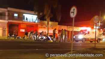 Motociclista fica gravemente ferido em colisão no jardim Santos Dumont - ® Portal da Cidade   Paranavaí