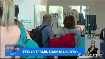 Milhares de britânicos no Aeroporto de Faro à procura de voo para regressarem a casa - RTP