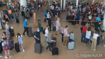 SIC: Regresso antecipado ao Reino Unido provoca filas no Aeroporto de Faro - Região Sul
