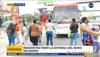 Personas en Penonomé exigen la entrega de bono solidario - TVN Panamá