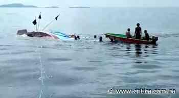 Embarcación de hunde en el golfo de Chiriquí; salvan a la tripulación (Video) - Crítica Panamá