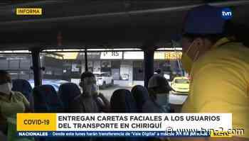 Movimiento 'Todo Chiriquí' realiza jornada de entrega de caretas - TVN Panamá